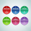 Web Elements Vector Circle Button Set — Stok Vektör