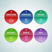 éléments web vecteur cercle bouton set — Vecteur