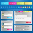 Web elements. Site navigation menu, web template and icons. — Stock Vector