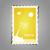 Stamp summer — Stock Vector