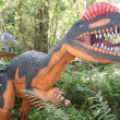 Dinosaurs in the Woods — Stockfoto