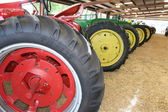 Tractor Wheels in a Row — Стоковое фото