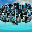 Television and internet production — Stock Photo