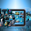 Television and internet production . — Stock Photo