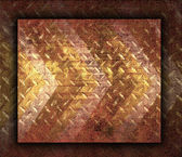 Texture of Red Grunge Rusty Steel Floor Plate for Background — Stock Photo