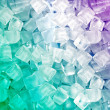 Stock Photo: Green Purple ice cubes