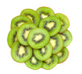 Many slices of kiwi fruit — Stock Photo