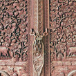 The Carving wood of door at temple — Stok fotoğraf