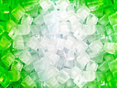 Green white ice cubes — Стоковое фото