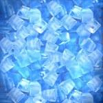 Background of ice cubes — Stock Photo