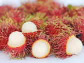 Rambutan fruit types. — Stock Photo