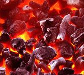 Fondo del carbón de leña — Foto de Stock
