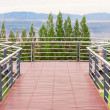 Tropical balcony with mountain view — Stock Photo