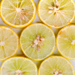 Lemon pieces on white background — Stock Photo