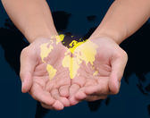 World in the hand — Stock Photo