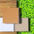 Stock Photo: Stack of ring binder book isolated