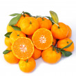 Ripe orange isolated on white background — ストック写真