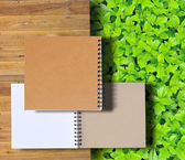 Stack of ring binder book isolated — Stock Photo