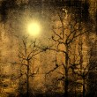 Stock Photo: Photo composition with full moon at night,dead tree