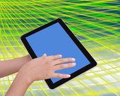 Porões e toque tablet pc — Foto Stock