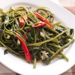 Stir Fried Water Spinach — Stock Photo