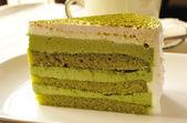Coffee and green cake — Stock Photo