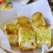 Garlic bread with herbs — Stock Photo