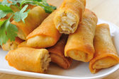 Fried Chinese Traditional Spring rolls food — Stock Photo