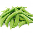 Fresh green peas isolated on a white background — Stock Photo