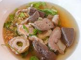 猪肉、 蔬菜、 水、 汤烫。食品泰式风格 — 图库照片
