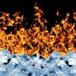 Stock Photo: Burning ice cube