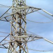 High voltage transmission power line — Stock Photo