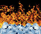 Burning ice cube — Stock Photo