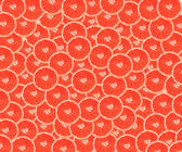 Red background with citrus fruit — Stock Photo