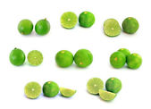 Fresh ripe lime on white background — Stock Photo