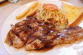 Pork Steak with Vegetables. — Stock Photo