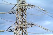 High voltage transmission power line — Stock Photo
