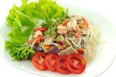 Thai spicy seafood salad — Stock Photo