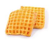 Belgium waffles isolated on white — Stock Photo
