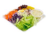 Fresh salad isolated on white — Stock Photo
