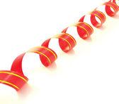 Gift ribbon isolated on white — Stock Photo