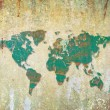 Grunge wall  texture. abstract World map background — Stock Photo