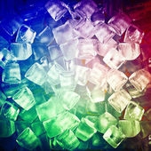 Background with ice cubes in blue light — Foto de Stock