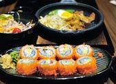Tasty sushi rolls — Stock Photo