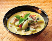 Green pork Curry , Thai cuisine — Stock Photo