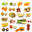 Fruit collection isolated on white background — Stock Photo