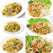 Thai food Pad thai , Stir fry noodles with shrimp — Stock Photo