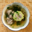 Bitter Gourd Soup with Pork in a Bowl — Stock Photo #28561779