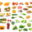 Collection of fruit and Vegetables — Stock Photo