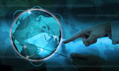 The social network.Internet concept — Stock Photo